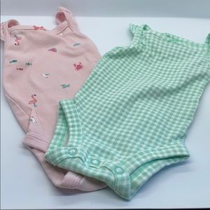 Set of 2 Baby Girl Summer Newborn Onesies🦩🐳🍉
